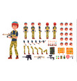 paintball player male animated character vector image vector image
