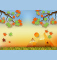 paper art style for autumn concept abstract vector image vector image