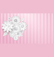 paper flowers on pink background vector image