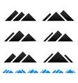peak mountain pictogramms vector image