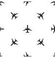 plane pattern seamless black vector image