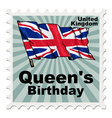 Post stamp of national day of UK