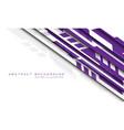 purple grey geometric futuristic cyber on white vector image vector image