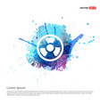 radiation fan - watercolor background vector image