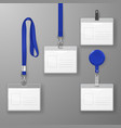 realistic blank office graphic id card set vector image