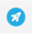 rocket icon sign symbol vector image