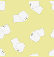 roll of toilet paper seamless pattern vector image vector image