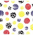 Seamless background with circles vector image vector image