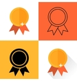 set medals executed in different flat style High vector image vector image