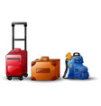 set of icons travel bags vector image