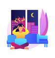 sleep behavior disorder abstract concept vector image vector image