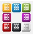 square button folder vector image