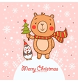 Stylish Christmas card in vector image vector image