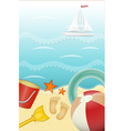 summer holiday card vector image vector image