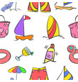 summer holiday style pattern vector image