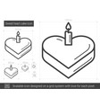 sweet heart cake line icon vector image vector image