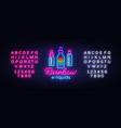 vape shop logo neon rainbow e-liquids vector image vector image