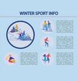 winter sport info infographic vector image vector image