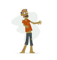 zombie - modern cartoon people characters isolated vector image
