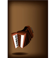 A Retro Accordion on Dark Brown Background vector image