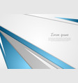 Abstract blue grey corporate background vector image vector image