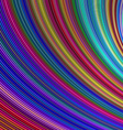 Abstract colorful curved stripe background vector image vector image