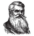 alfred russel wallace vintage vector image vector image