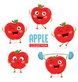 apple characters vector image