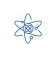 atom line icon concept atom flat symbol vector image
