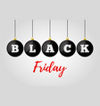 black friday sale ad poster banner vector image vector image