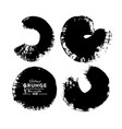 black-white round grunge overlay element circle vector image
