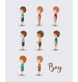 boy character design vector image