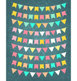 bunting party flags vector image vector image