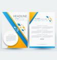 business corporate brochure template design vector image vector image