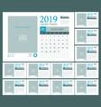 Calendar template design 2019