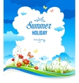 Cheerful summer background vector image