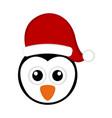 christmas cute penguin avatar vector image vector image
