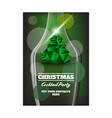christmas party flyer with the bottle vector image vector image