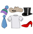 clothes and accessories vector image vector image