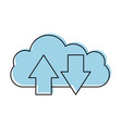 cloud computing with arrows vector image