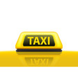 creative of yellow taxi vector image vector image