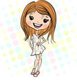 Cute smiling fashion baby girl vector image vector image