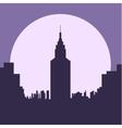 dark gloomy night city flat silhouette vector image vector image