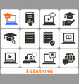 e-learning distance education icons set of vector image vector image