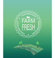 Farm fresh logotype in outline style vector image