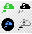financial dream clouds eps icon with vector image