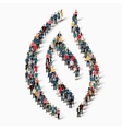 flame symbol people 3d vector image vector image