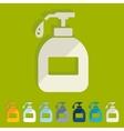Flat design liquid soap vector image