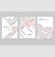flyers brochures with abstract pattern templates vector image