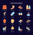 food allergy icon set in colored line style vector image vector image